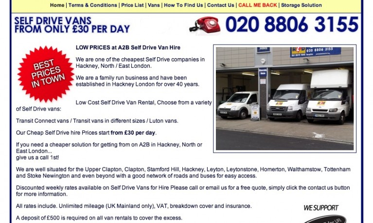A2B Self Drive Van Hire